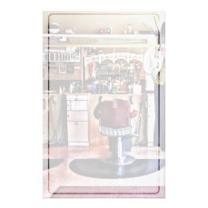 Barbershop With Coat Rack Stationery
