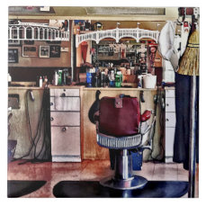 Barbershop With Coat Rack Tile