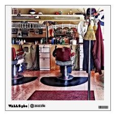 Barbershop With Coat Rack Wall Sticker