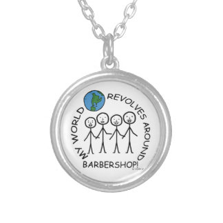 Barbershop - World Revolves Around Silver Plated Necklace