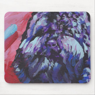 Barbet Bright Colorful Pop Dog Art Mouse Pad