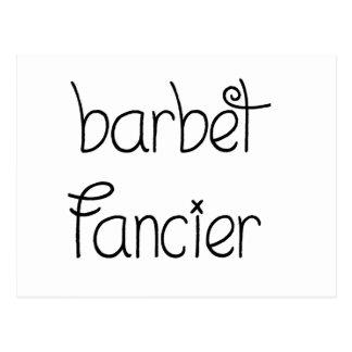 barbet fancier postcard