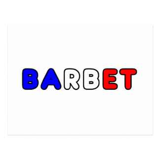 barbet flag in name postcard