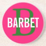 Barbet Monogram Design Coasters