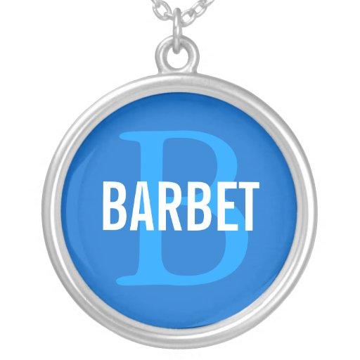 Barbet Monogram Design Custom Necklace