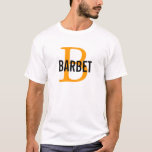 Barbet Monogram Design T-Shirt