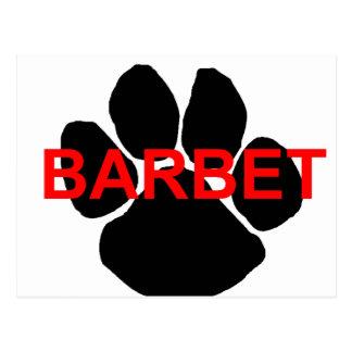 barbet name paw postcard