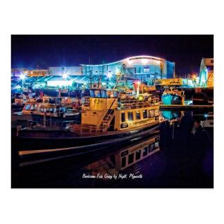 Barbican Fish Quay by Night, Plymouth Postcard