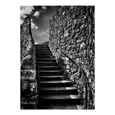 Barbican Steps - onwards and upwards Poster