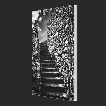 Barbican Steps wrapped canvas Canvas Print