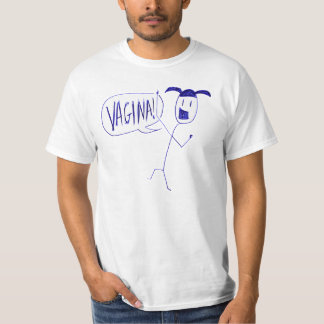 Barbie Ballpoint V-word T-shirt! T-Shirt