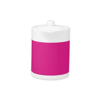 Barbie Pink Background Teapot