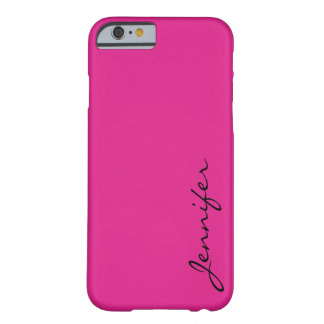 Barbie pink color background barely there iPhone 6 case