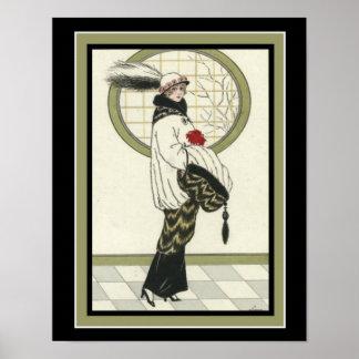 Barbier Art Deco Print 11 x 16