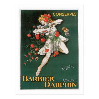 Barbier Dauphin Conserves Vintage Food Ad Art Postcard