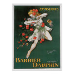 Barbier Dauphin Conserves Vintage Food Ad Art Print