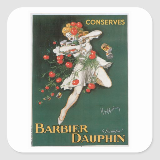 Barbier Dauphin Conserves Vintage Food Ad Art Stickers