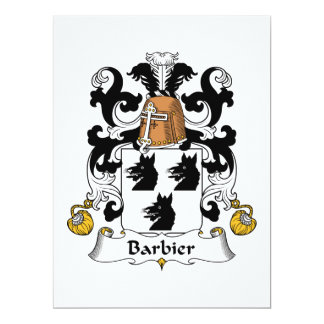 Barbier Family Crest 6.5x8.75 Paper Invitation Card