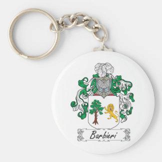 Barbieri Family Crest Basic Round Button Keychain