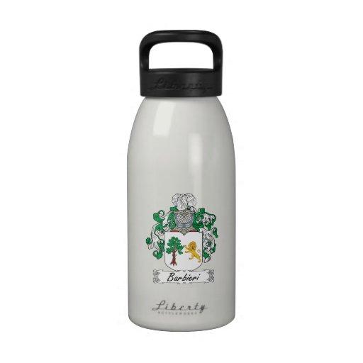 Barbieri Family Crest Reusable Water Bottles