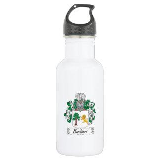 Barbieri Family Crest Water Bottle