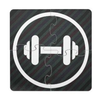 Barbillas del gimnasio mínimas posavasos de puzzle