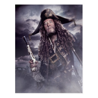 Barbossa - Command Respect Postcard