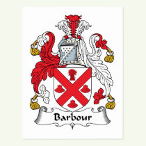 Barbour Family Crest Postcard