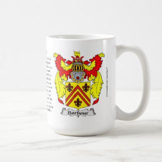 Barbour, the Origin, the Meaning and the Crest Coffee Mug