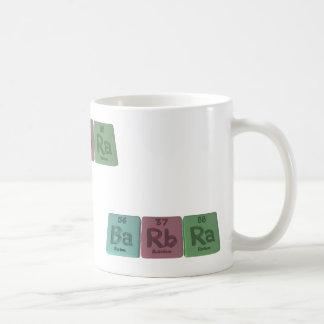 Barbra as Barium Rubidium Radium Mugs