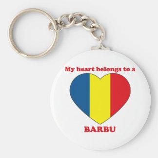 Barbu Basic Round Button Keychain