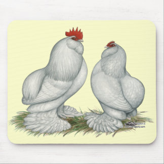 Barbu d'Everberg Chickens Mouse Pad