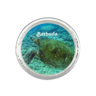 Barbuda que bucea anillo con foto