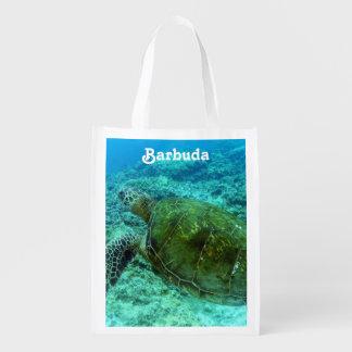 Barbuda que bucea bolsas reutilizables
