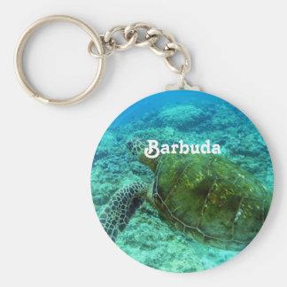 Barbuda que bucea llavero redondo tipo pin