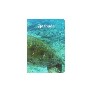Barbuda que bucea porta pasaporte