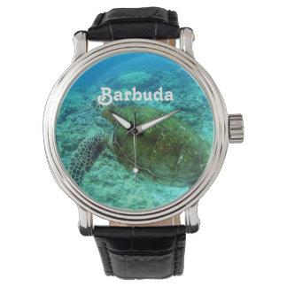 Barbuda que bucea relojes de mano