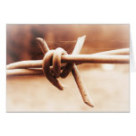 Barbwire and Spider Web in Sepia Card