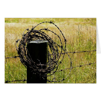 Barbwire Country Card