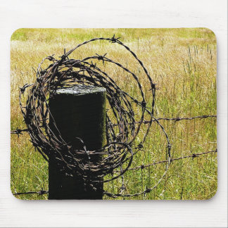 Barbwire Country Mouse Pad