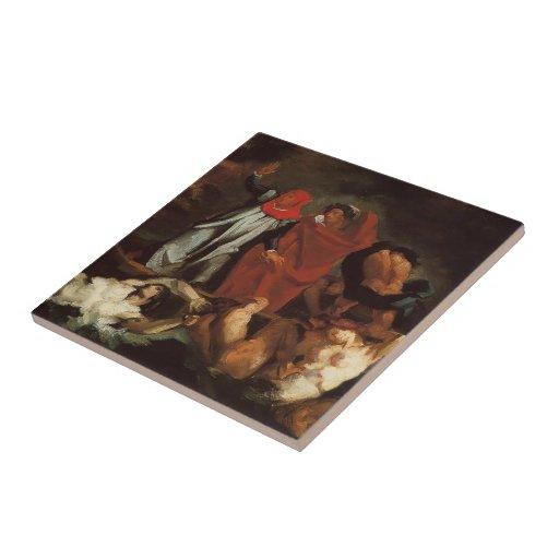 Barca de Paul Cezanne-The de Dante (después de Del Azulejo Cuadrado Pequeño