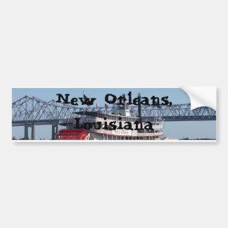 Barca en New Orleans Pegatina De Parachoque