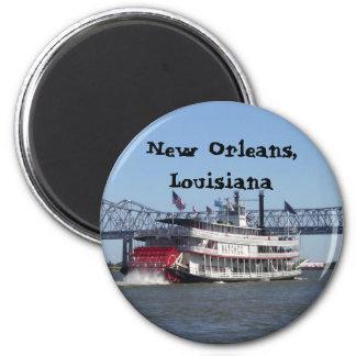 Barca en New Orleans Iman De Frigorífico