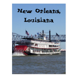 Barca en New Orleans Tarjeta Postal