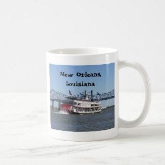 Barca en New Orleans Tazas De Café