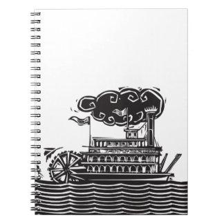 Barca severa de la rueda en ondas libretas espirales