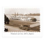 Barca y coche, los años 30 América Postal
