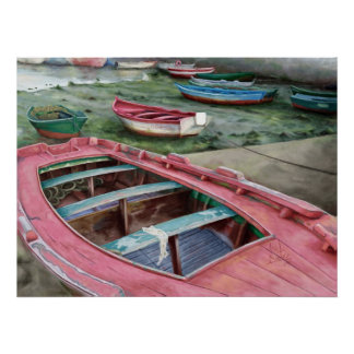 Barcas Boats Poster