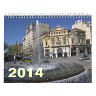 Barcelona 2014 wall calendars