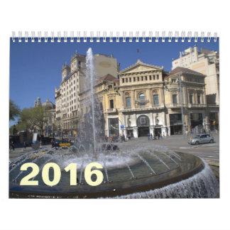 Barcelona 2016 calendar
